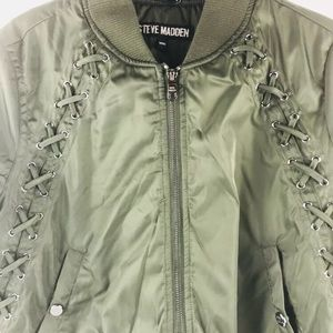 Steve Madden Jacket Green Puffer Coat Medium New